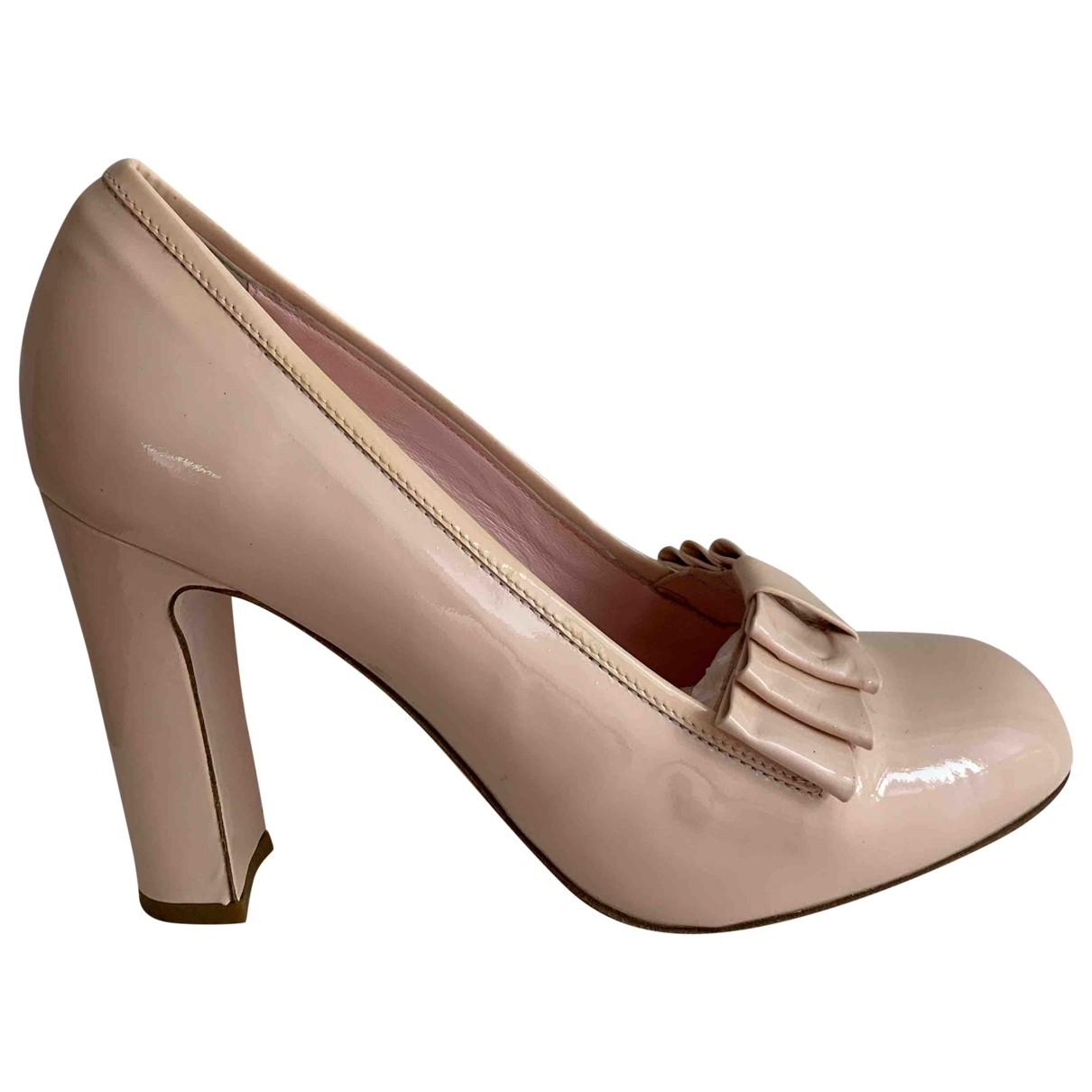 Red Valentino Garavani - Escarpins   pour femme en cuir verni - rose