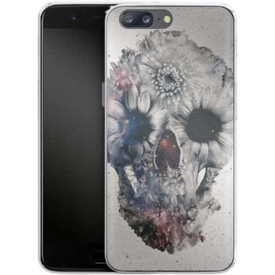 OnePlus 5 Silikon Handyhuelle - Floral Skull 2 von Ali Gulec