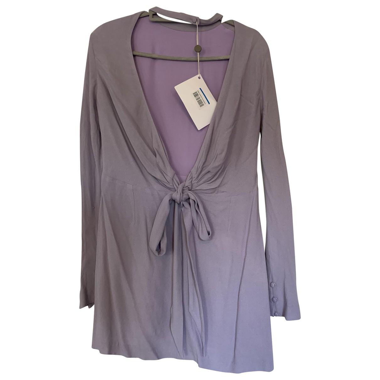 Non Signe / Unsigned \N Kleid in  Lila Viskose