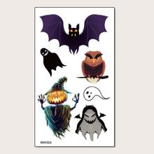1pc Halloween Pattern Tattoo Sticker