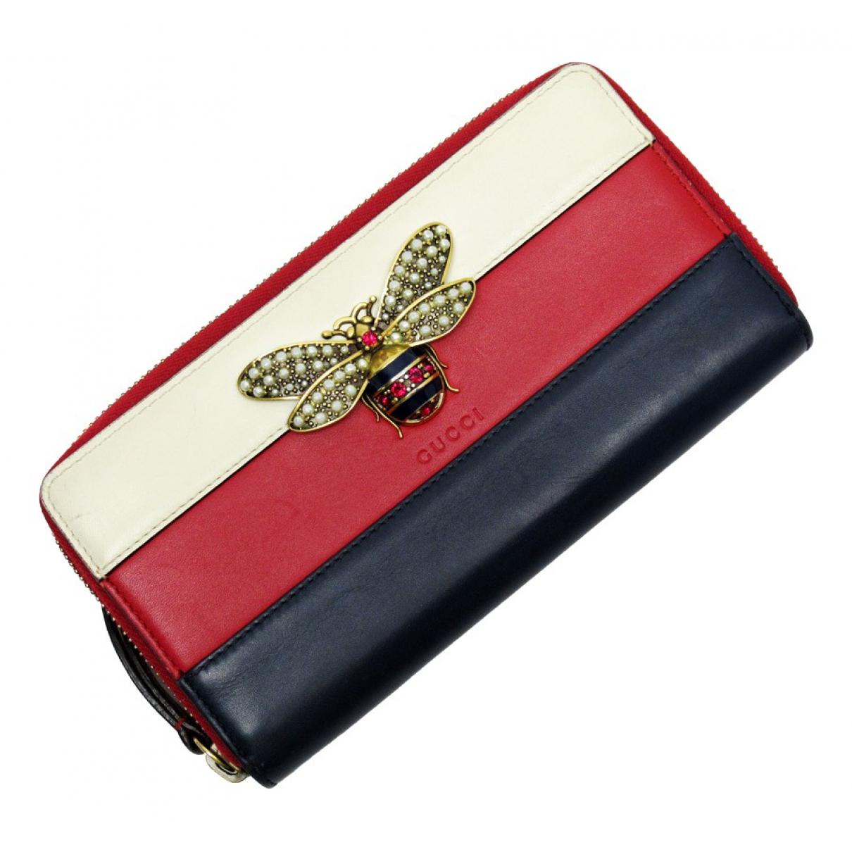 Gucci - Portefeuille Queen Margaret pour femme en cuir - dore