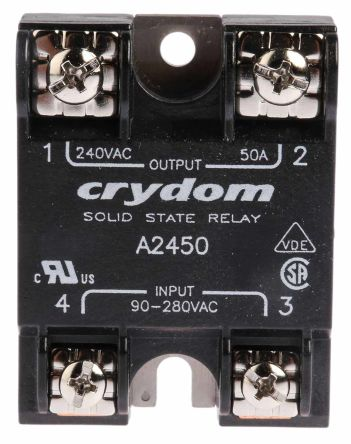 Sensata / Crydom 50 A rms Solid State Relay, Zero Cross, Surface Mount, SCR, 280 V rms Maximum Load