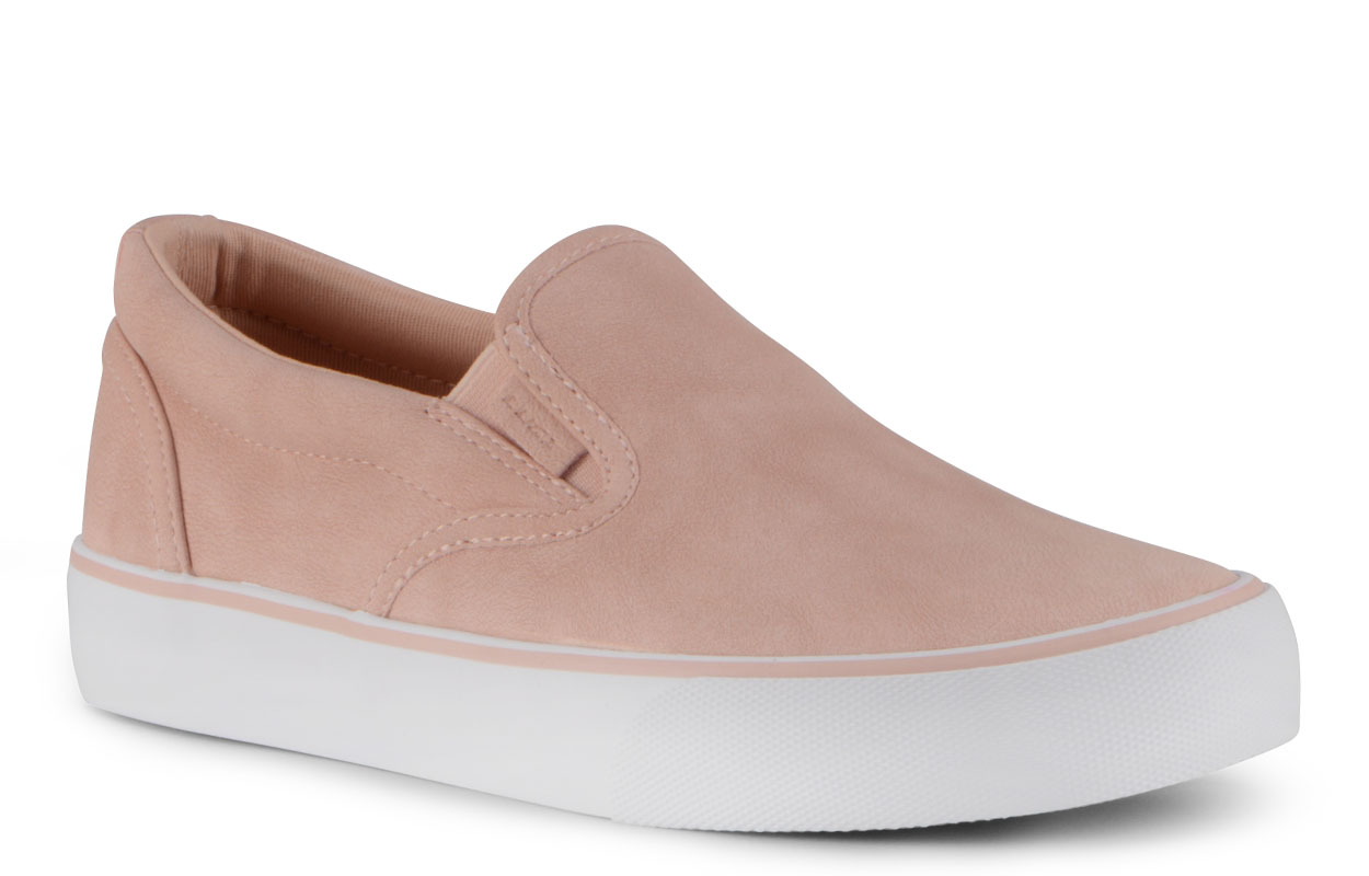 Women's Clipper Lx Slip-On Sneaker (Choose Your Color: ROSE/WHITE, Choose Your Size: 5.5)