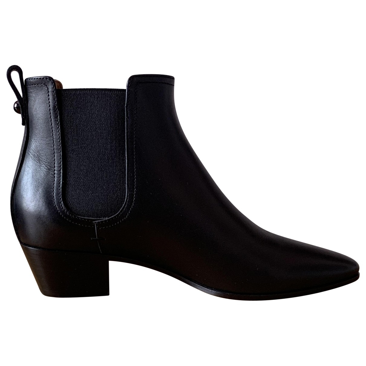 Bally \N Black Leather Ankle boots for Women 37 EU