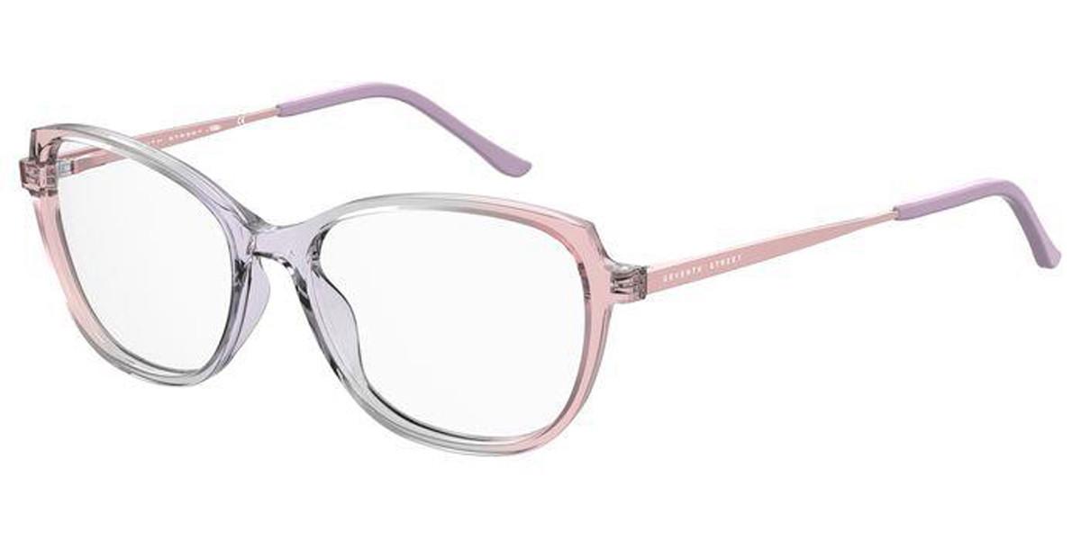 Seventh Street 7A553 S1V Women's Glasses Pink Size 53 - Free Lenses - HSA/FSA Insurance - Blue Light Block Available
