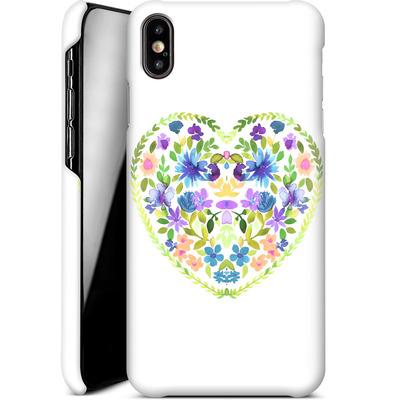 Apple iPhone XS Max Smartphone Huelle - Love Folk Olive Green von Amy Sia