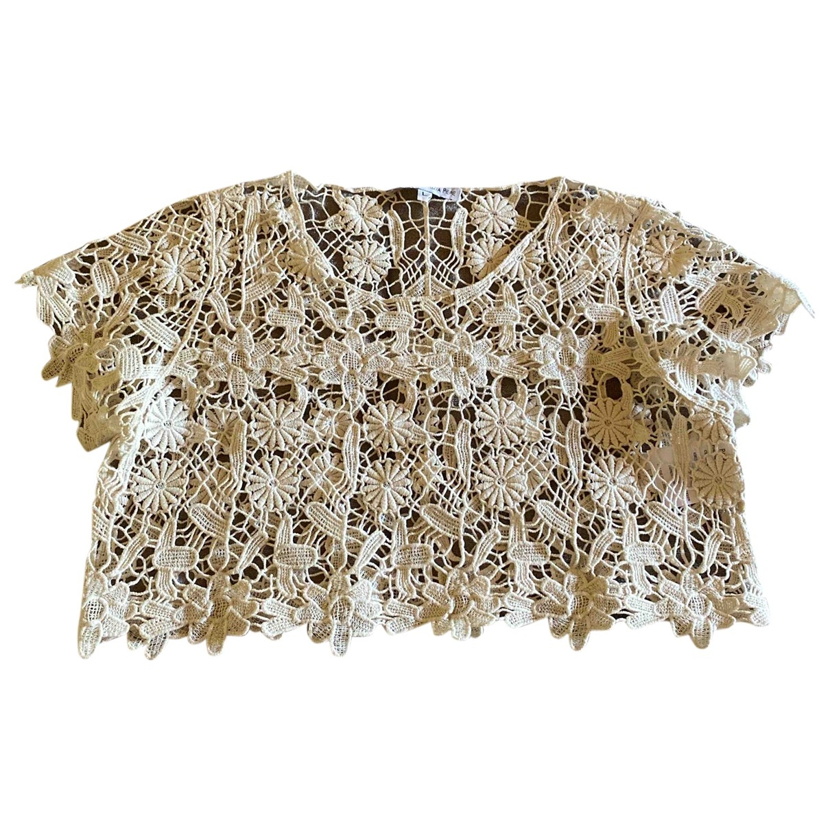 Patrizia Pepe \N Beige Cotton  top for Kids 18 years - L UK