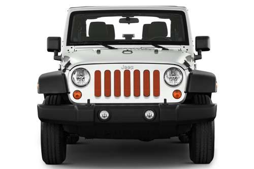 Jeep Wrangler Grill Inserts 07-18 JK Rhino Under The Sun Inserts INSRT-SLDRHIN-JK