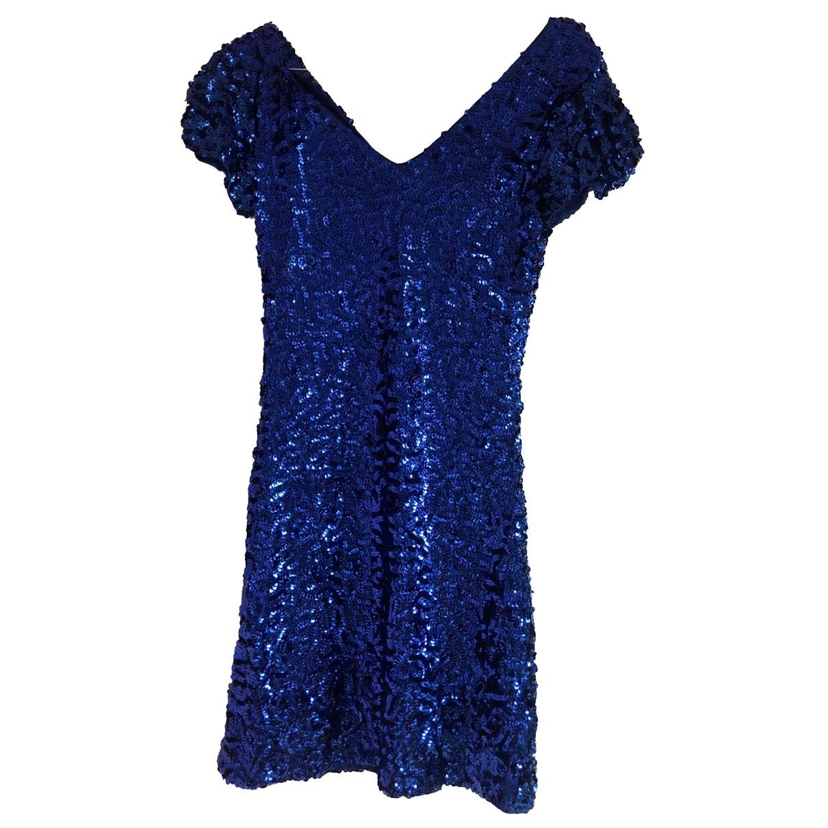 Non Signe / Unsigned \N Kleid in  Blau Mit Pailletten