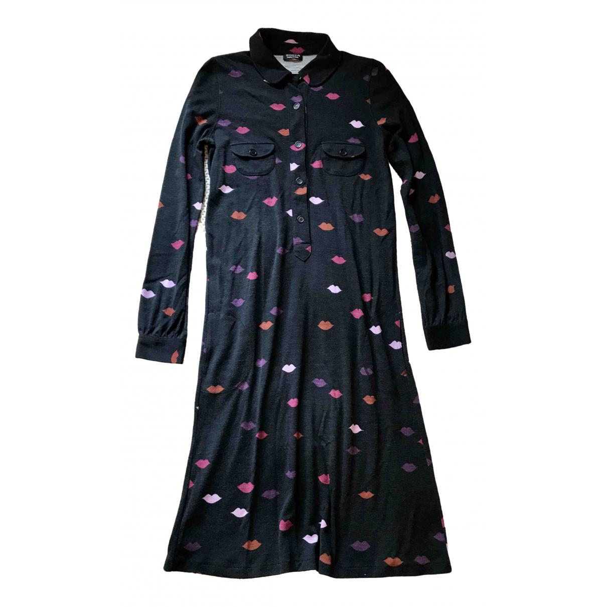 Sonia By Sonia Rykiel \N Kleid in  Schwarz Baumwolle - Elasthan