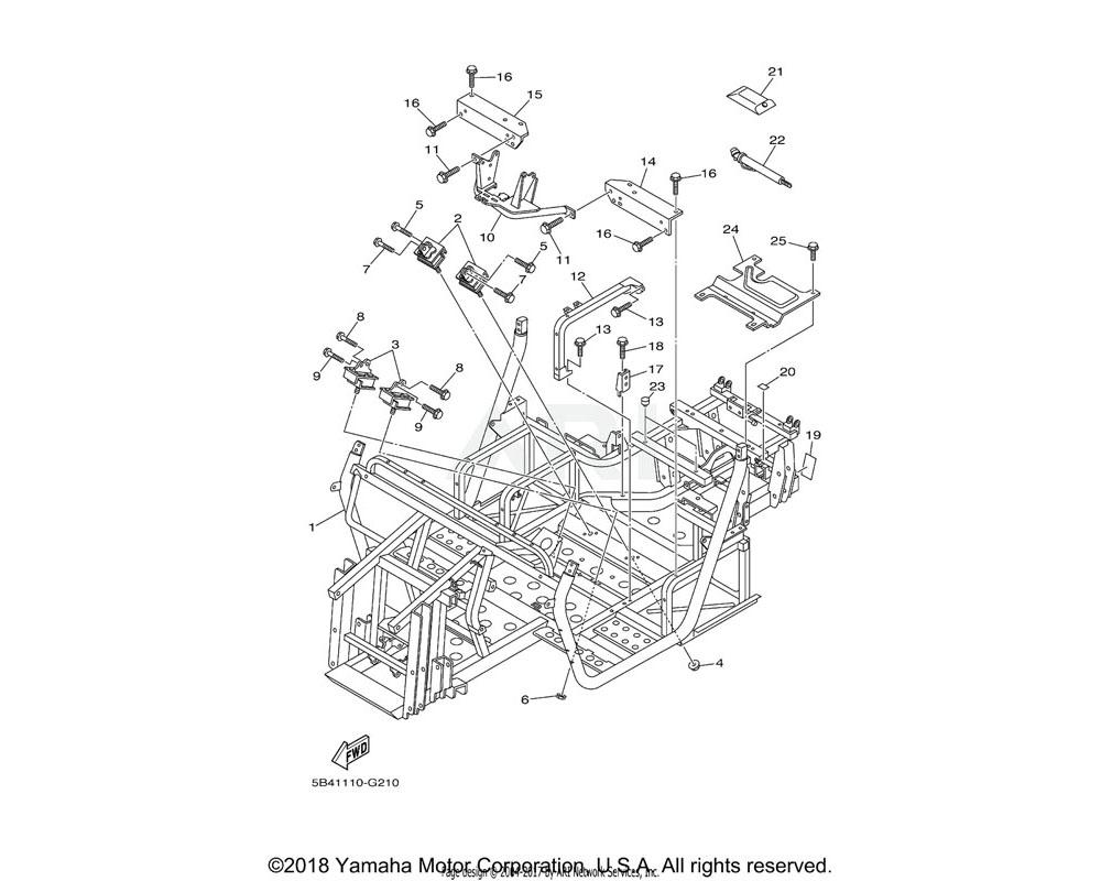 Yamaha OEM 5B4-F4103-01-00 SEAT BRACKET COMP.