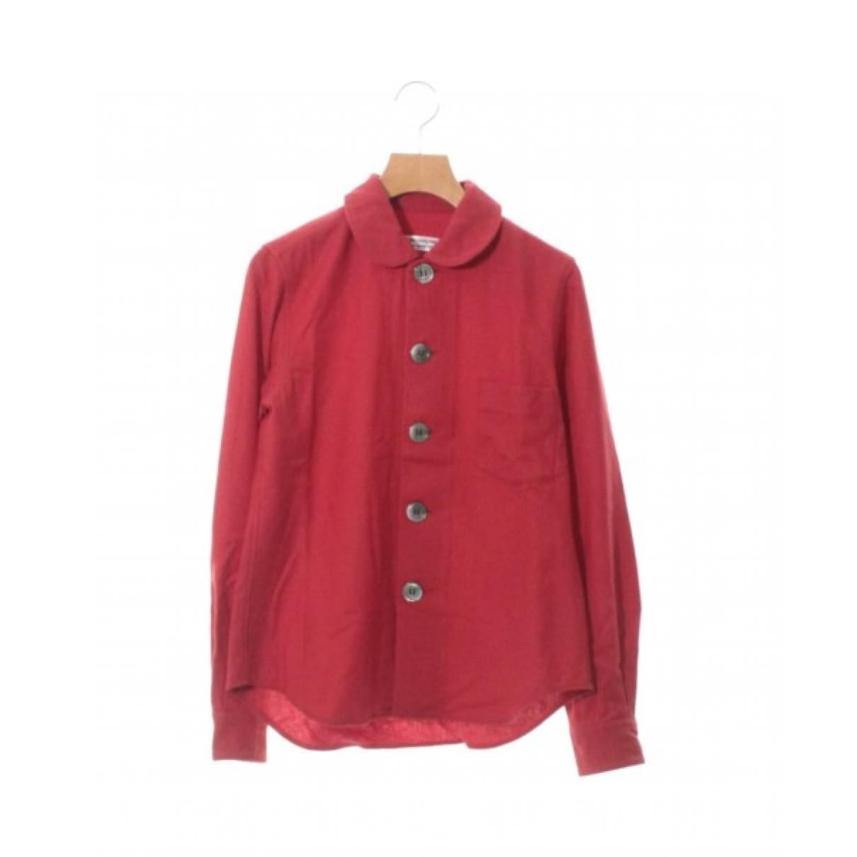 Comme Des Garcons - Top   pour femme en laine - rouge