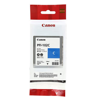 Canon PFI-102C 0896B001 Original Cyan Ink Cartridge