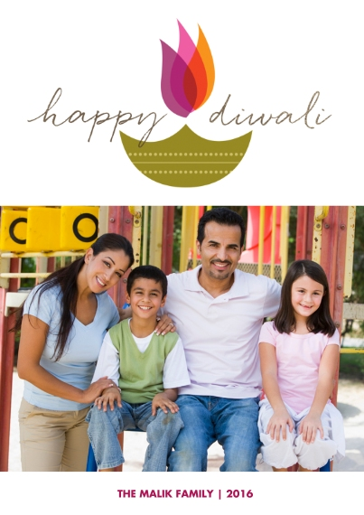 Diwali Cards Mail-for-Me Premium 5x7 Flat Card, Card & Stationery -Illuminated Celebration