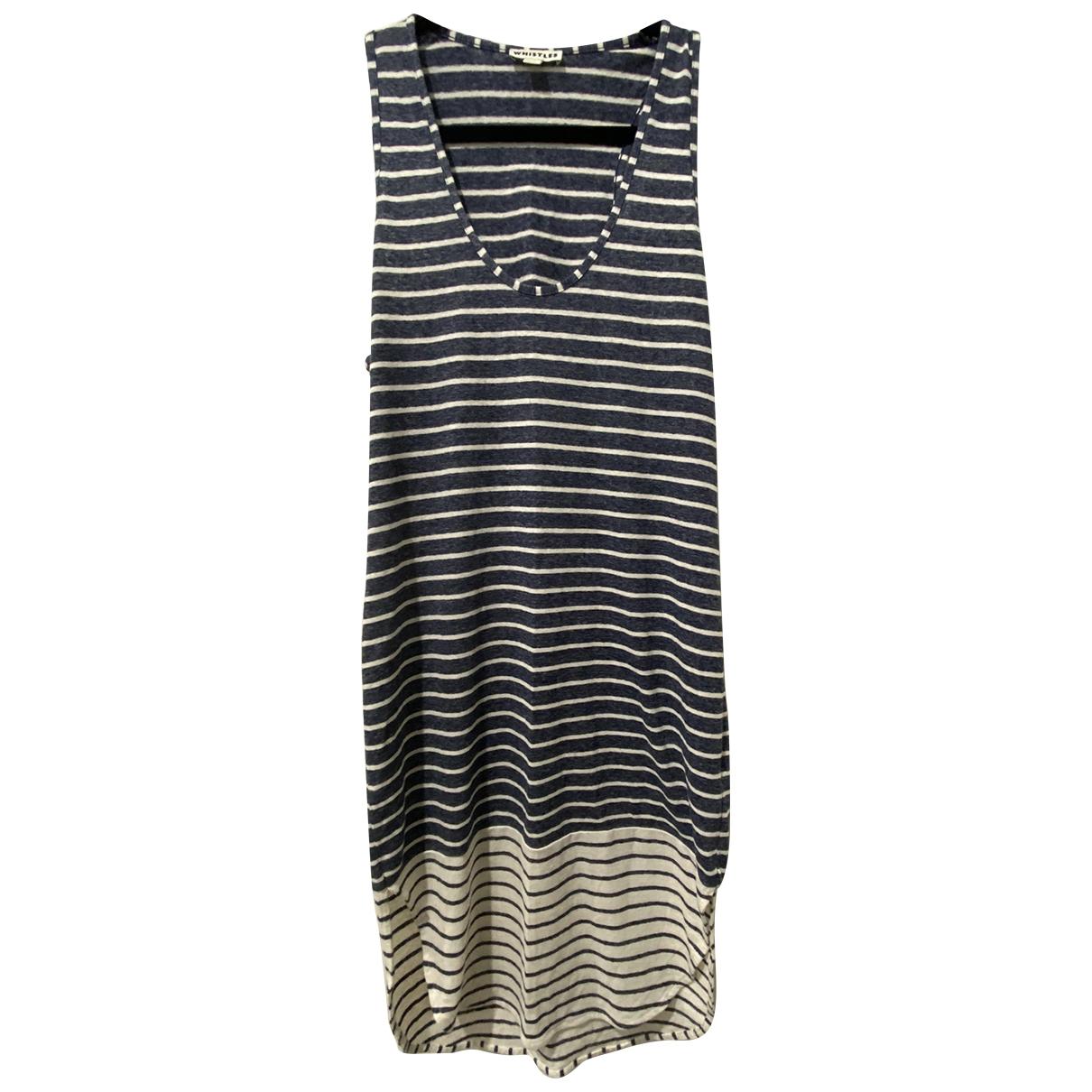 Whistles N Blue Linen dress for Women 12 UK