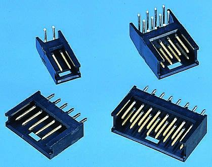 TE Connectivity , AMPMODU MOD II, 8 Way, 1 Row, Right Angle PCB Header (10)