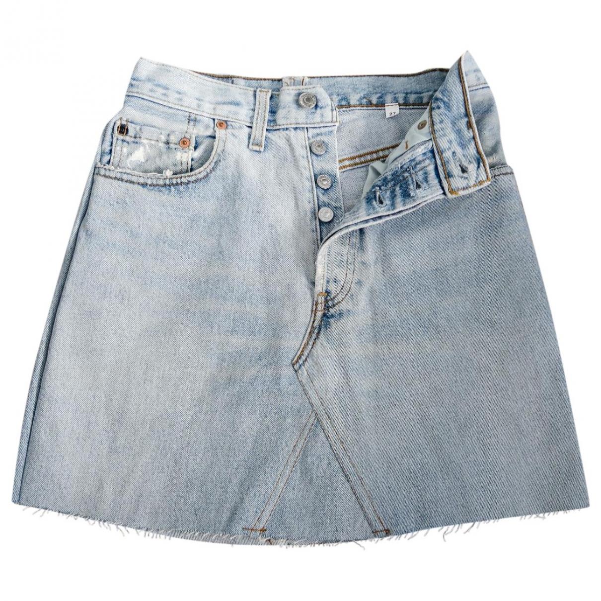 Levi's Vintage Clothing \N Blue Cotton skirt for Women 34 FR