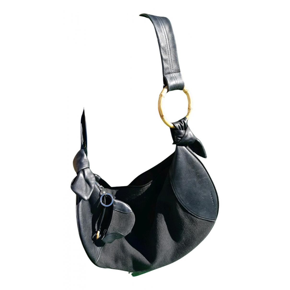 Lancel N Black Cloth handbag for Women N