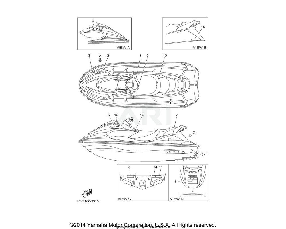 Yamaha OEM F0V-U41D5-21-00 LABEL, WARNING SHIFT LEVER | YMUS