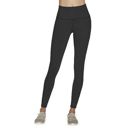 Skechers Gowalk Wear Womens High Rise Full Length Leggings, Medium , Black