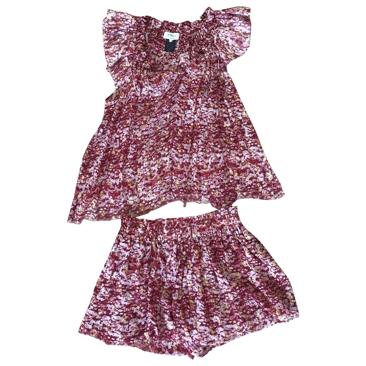 Isabel Marant Etoile \N Red Silk dress for Women 1 US