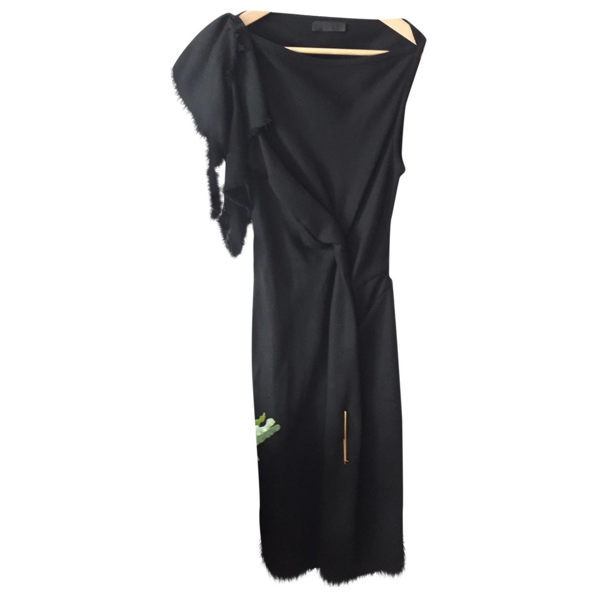 David Szeto \N Kleid in  Schwarz Wolle
