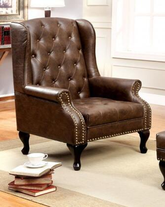 Vaugh CM-AC6801BR Accent Chair in Rustic