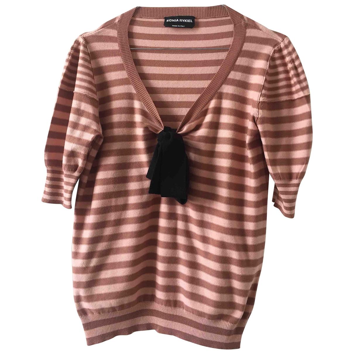 Sonia Rykiel \N Pink Cotton Knitwear for Women 42 FR
