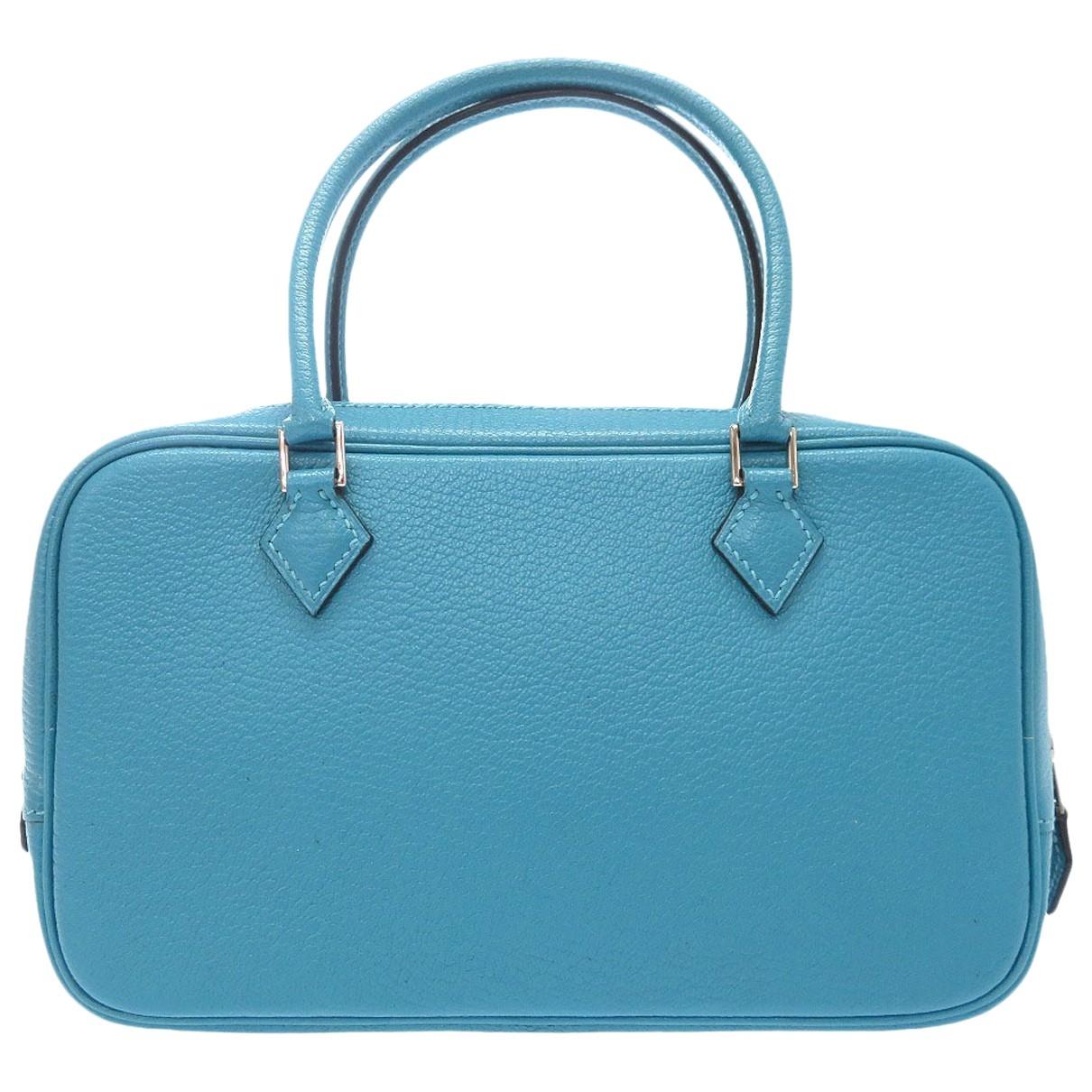 Hermès Plume Blue Leather handbag for Women \N