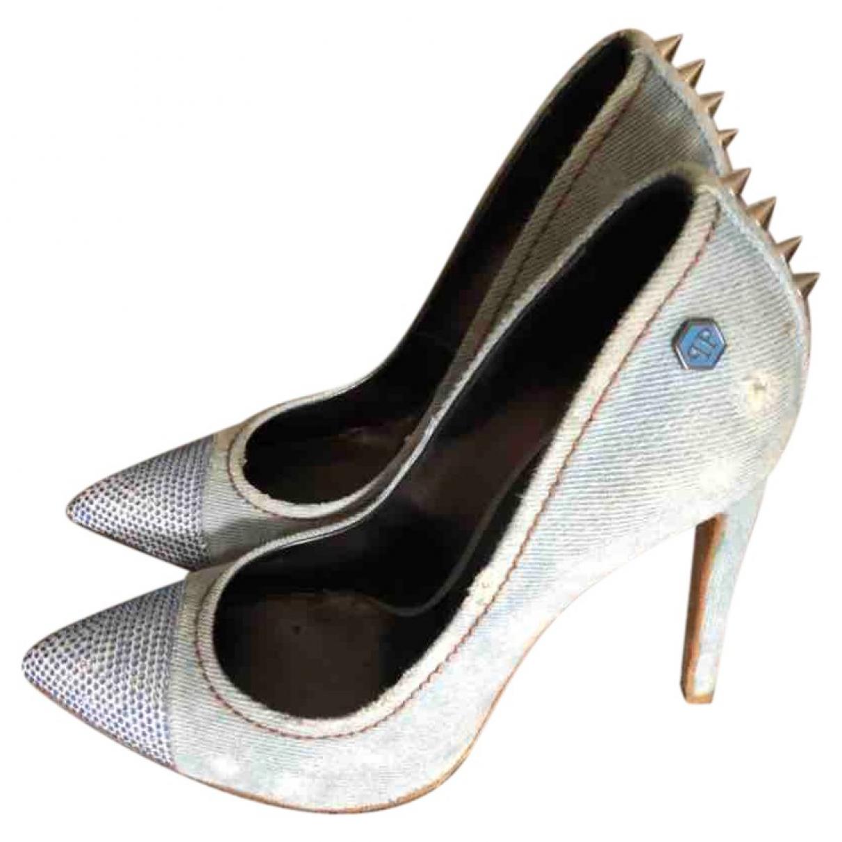 Philipp Plein - Escarpins   pour femme en cuir - bleu