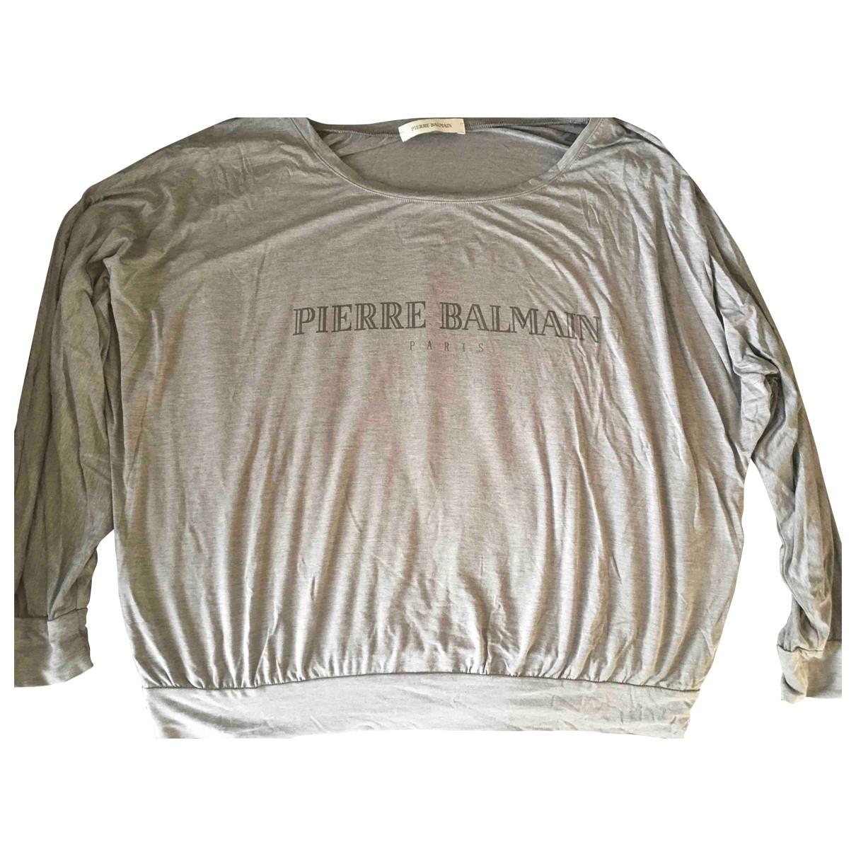 Pierre Balmain \N Grey Knitwear for Women 38 FR