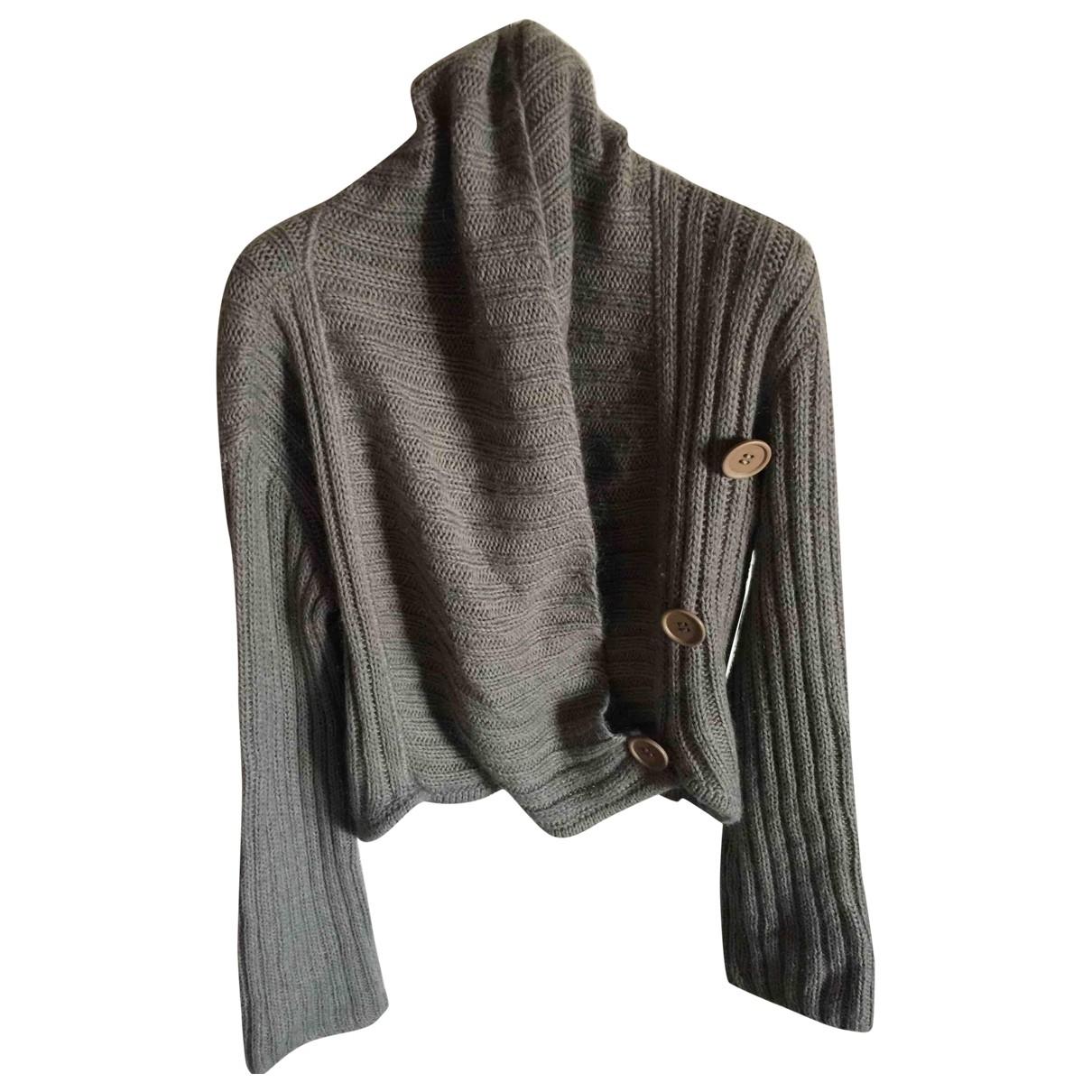 Emporio Armani - Pull   pour femme en laine - gris