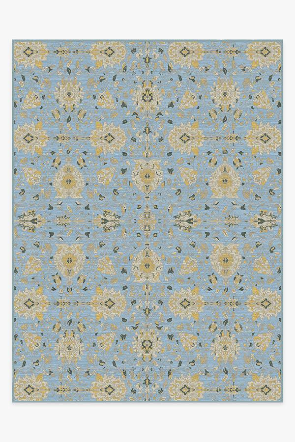 Washable Rug Cover & Pad | Marie Pale Blue Rug | Stain-Resistant | Ruggable | 9'x12'