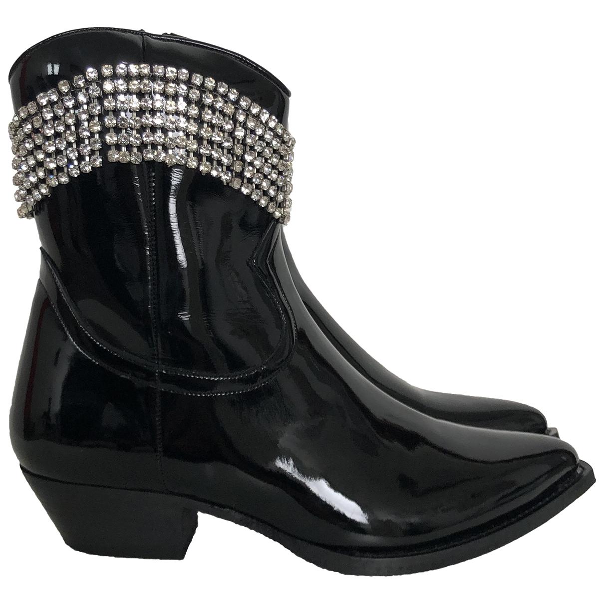 Chiara Ferragni \N Black Patent leather Boots for Women 38 EU