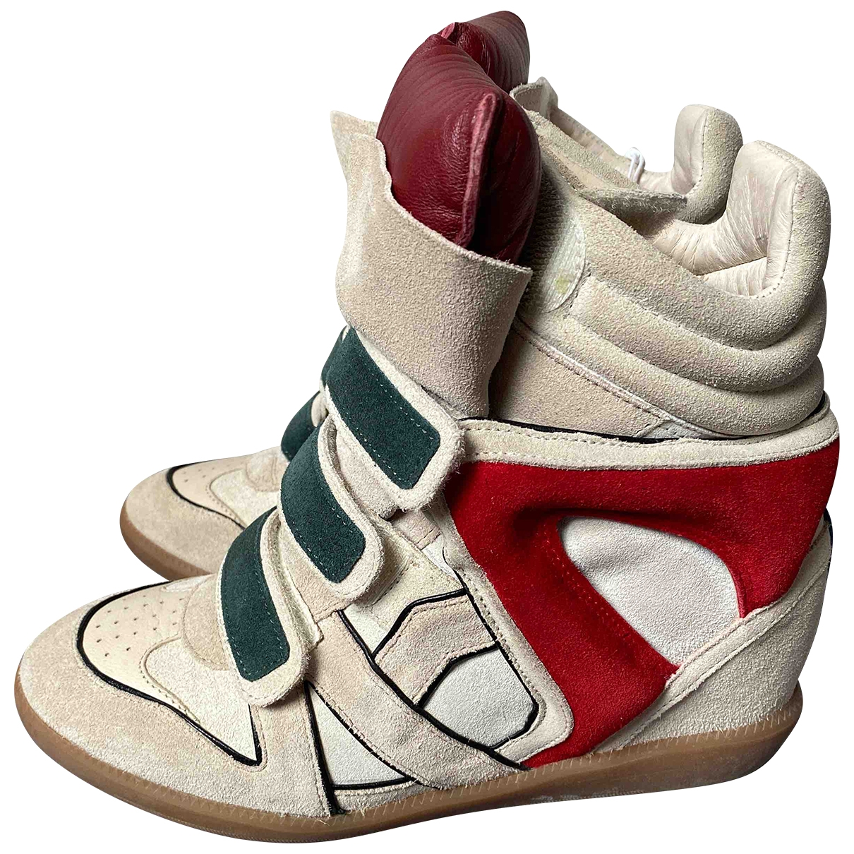 Isabel Marant Beckett Sneakers in  Bunt Veloursleder