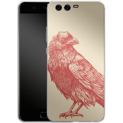 Huawei P10 Silikon Handyhuelle - Red Raven von Terry Fan