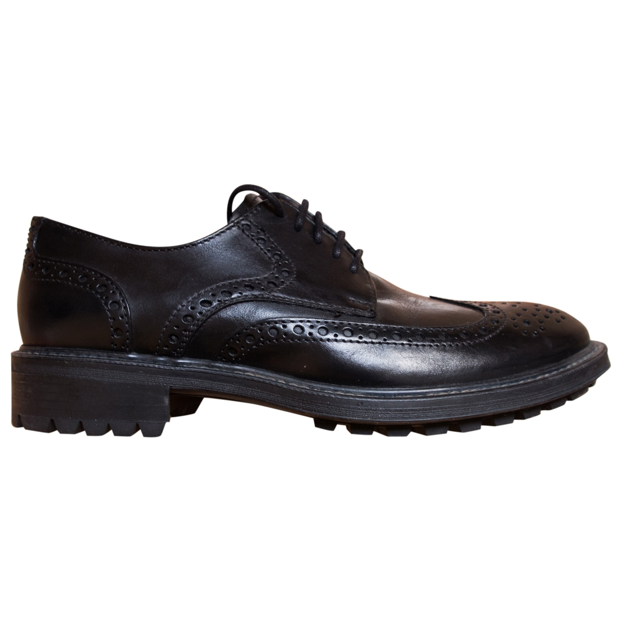 Non Signé / Unsigned \N Black Leather Lace ups for Men 40 EU