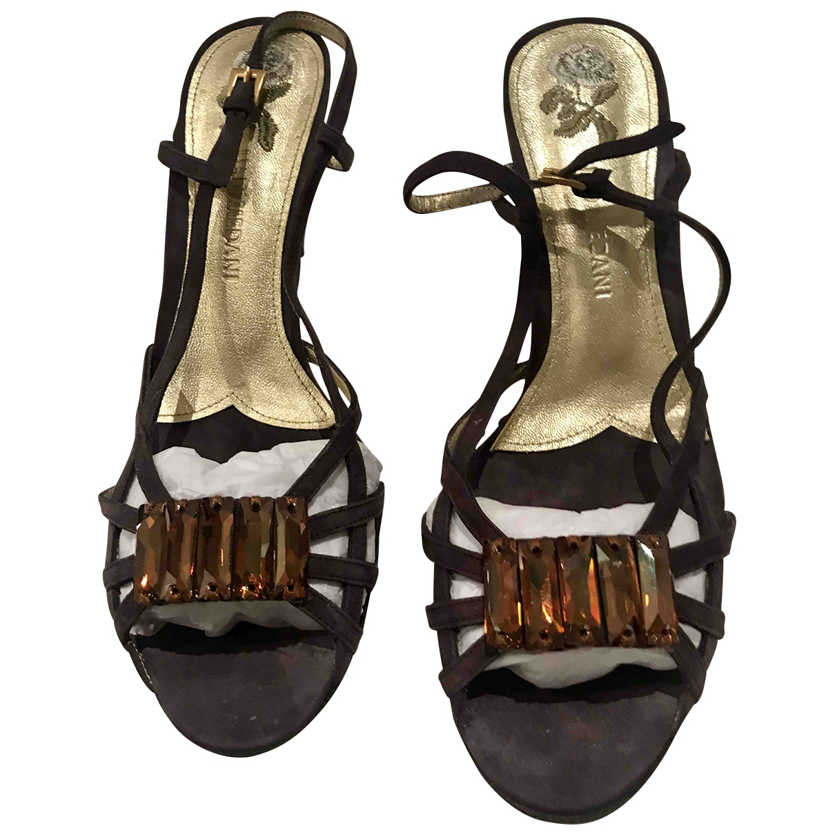 Non Signé / Unsigned \N Purple Suede Sandals for Women 38 EU