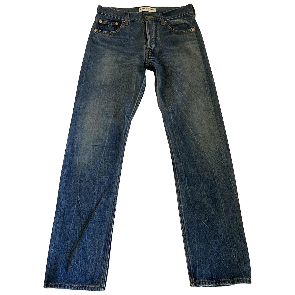 Balenciaga \N Blue Cotton Jeans for Women 28 US