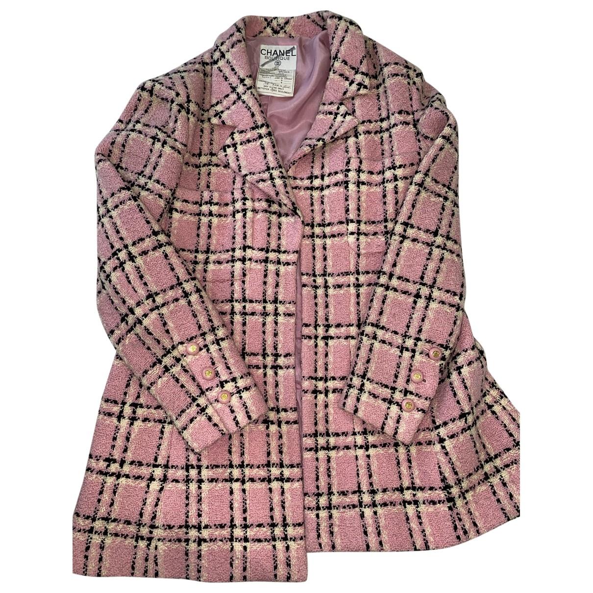 Chanel \N Jacke in  Rosa Tweed