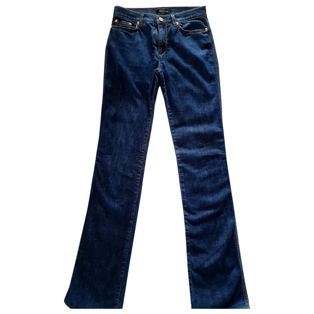 Roberto Cavalli \N Blue Cotton - elasthane Jeans for Women 38 FR