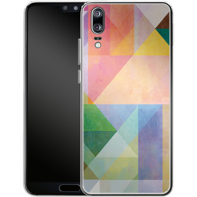 Huawei P20 Silikon Handyhuelle - Color Blocking 1 von Mareike Bohmer