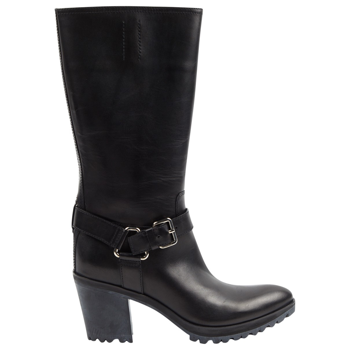Prada \N Black Leather Boots for Women 40 EU