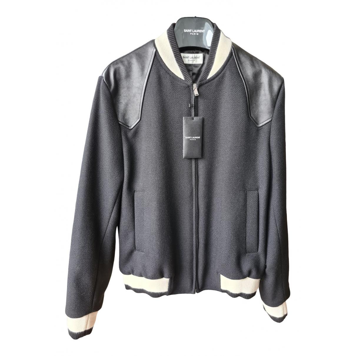 Saint Laurent - Vestes.Blousons   pour homme en laine - noir