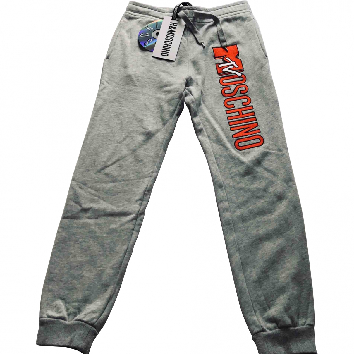 Moschino For H&m \N Grey Cotton Trousers for Men S International