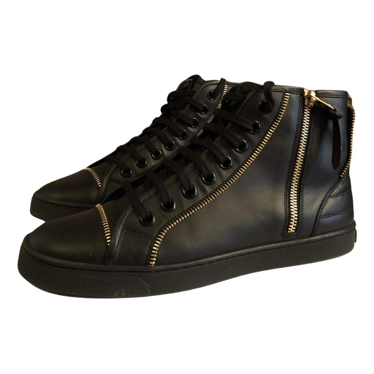 Louis Vuitton N Black Leather Trainers for Women 38 EU