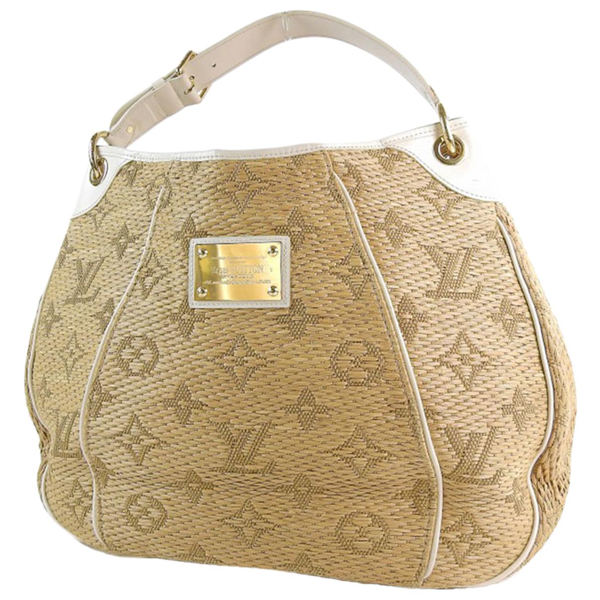 Louis Vuitton Galliera Handtasche in  Beige Stroh