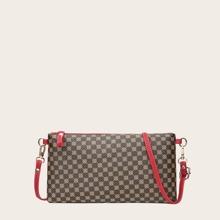 Graphic Pattern Crossbody Bag