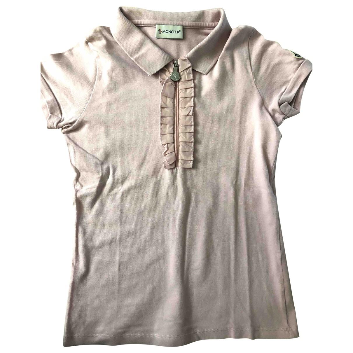 Moncler - Top   pour enfant en coton - rose