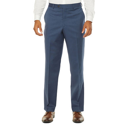 Stafford Super Suit Mens Stretch Regular Fit Suit Pants - Big and Tall, 46 29, Blue